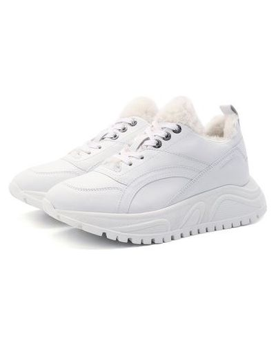 Белые кожаные кроссовки Bogner