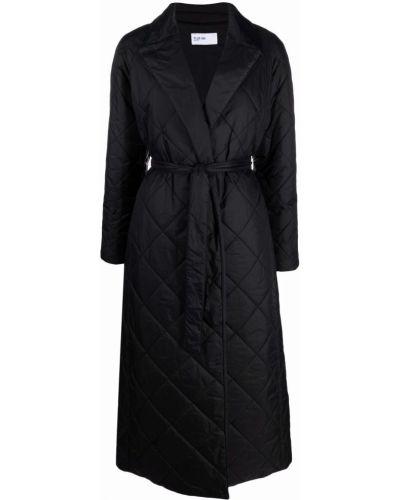Czarny klasyczny płaszcz Palto