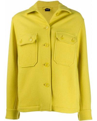 Длинная куртка на пуговицах жёлтая Aspesi