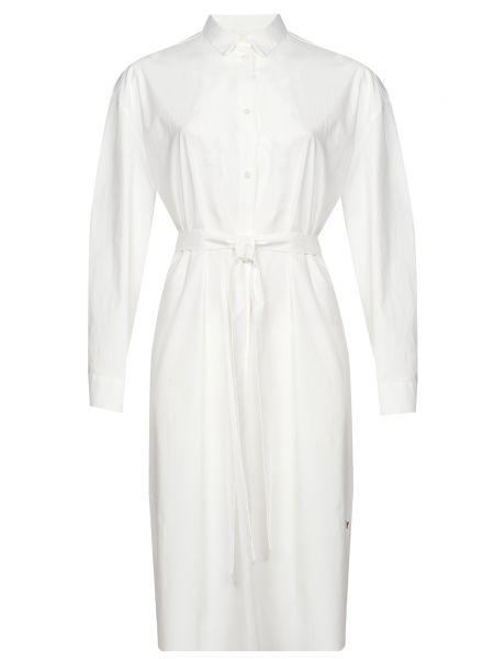 Приталенное белое платье с поясом Ice Play