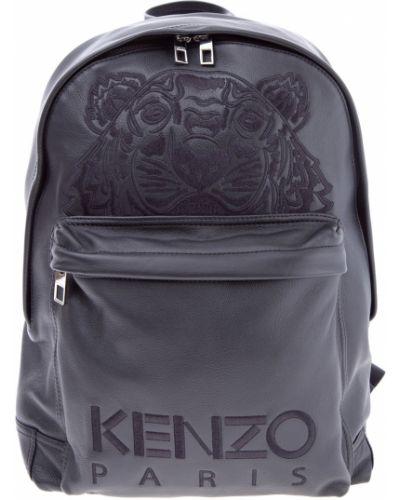 Рюкзак кожаный на молнии Kenzo