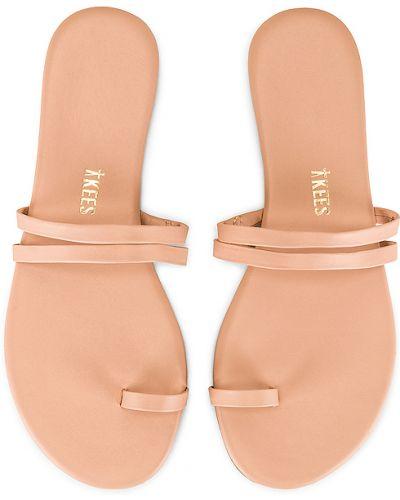 Beżowe sandały skorzane Tkees