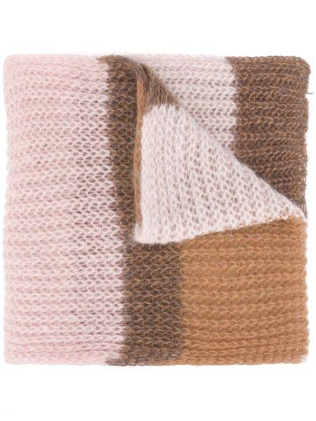 Вязаный розовый шарф вязаный из мохера Luisa Cerano