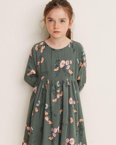 Платье с рукавами длинное на молнии Mango Kids
