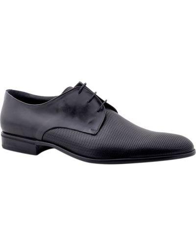 Туфли с перфорацией черные Moreschi