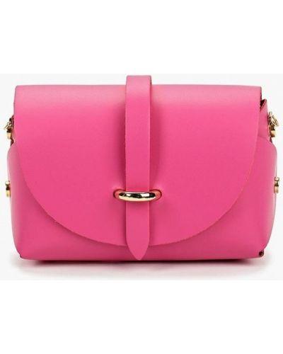 Кожаная сумка через плечо розовый Roberta Rossi
