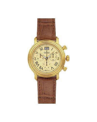 Часы с кожаным ремешком швейцарские Charmex