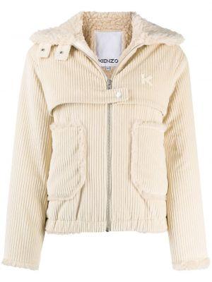 С рукавами куртка на молнии со вставками из искусственного меха Kenzo