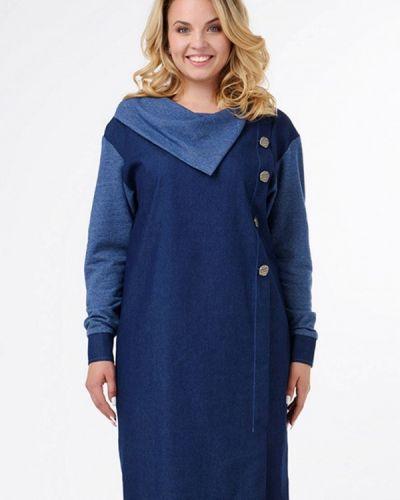 Джинсовое платье осеннее синее Ricamare