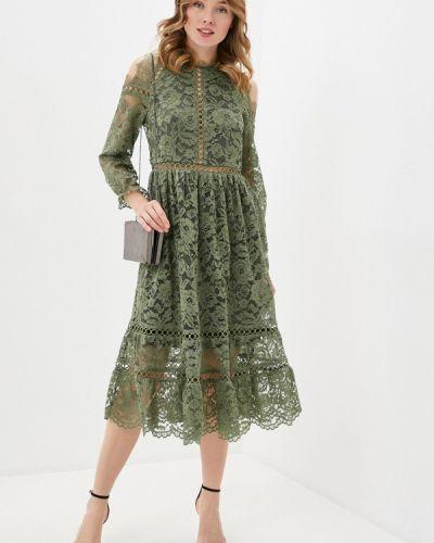 Зеленое вечернее платье Anna Verdi