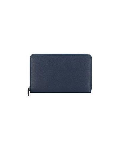 Синий кожаный кошелек Corneliani