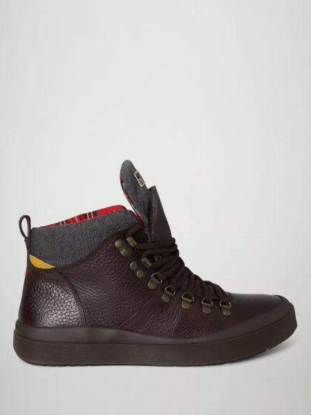 Кожаные ботинки - коричневые Napapijri