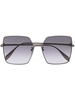 Черные солнцезащитные очки квадратные Alexander Mcqueen