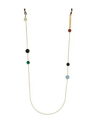 Ażurowe czarne okulary Frame Chain