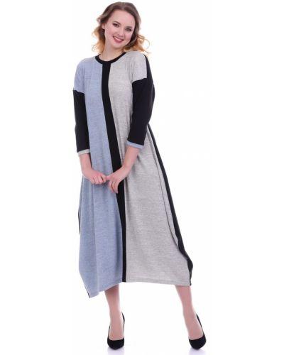 С рукавами трикотажное платье миди бохо Lautus