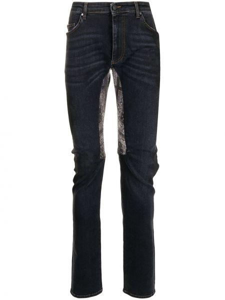 Niebieskie mom jeans z paskiem Alchemist