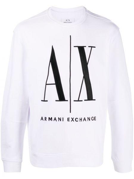 Свободная с рукавами белая толстовка Armani Exchange
