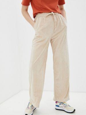 Повседневные бежевые брюки B.style