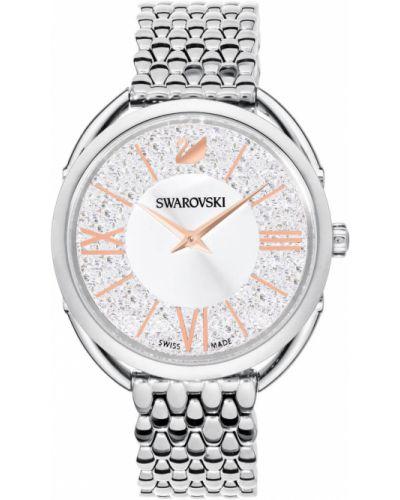 Водонепроницаемые часы кварцевые с камнями Swarovski