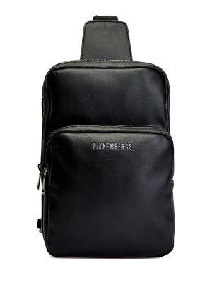 Кожаная сумка через плечо - черная Bikkembergs