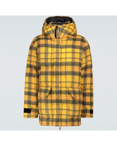 Ватная нейлоновая желтая куртка с перьями The North Face