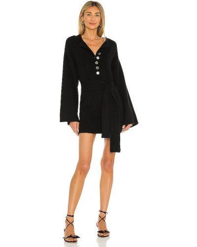Черное платье с поясом Marissa Webb