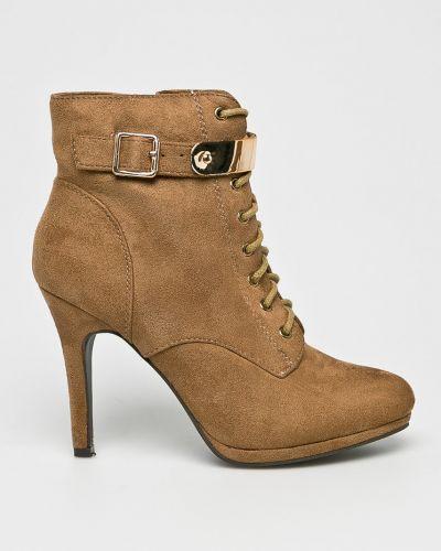 Сапоги на шнуровке на шпильке Corina