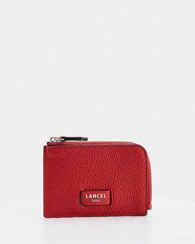 Красный кожаный кошелек Lancel