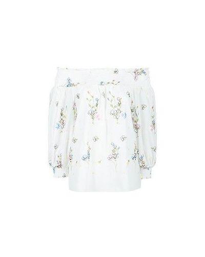 Хлопковая блузка - белая Blugirl