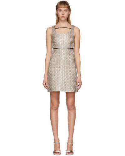 Платье на бретелях с отложным воротником Gucci