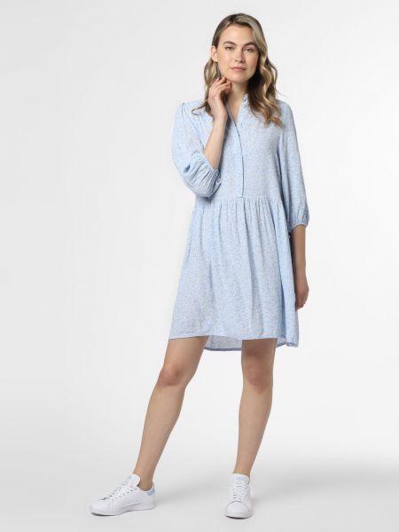 Niebieska sukienka w kwiaty Mbym
