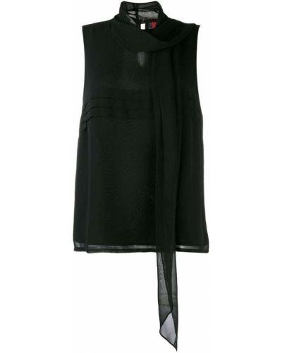 Шелковая блузка - черная Max Mara Studio