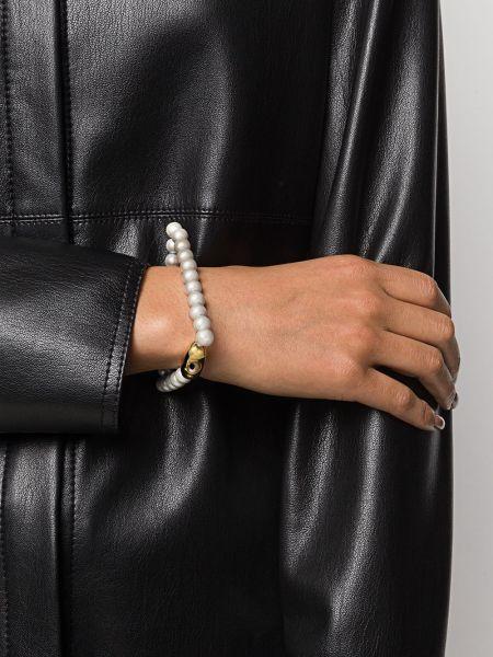 Bransoletka ze złota z perłami biały Mm6 Maison Margiela