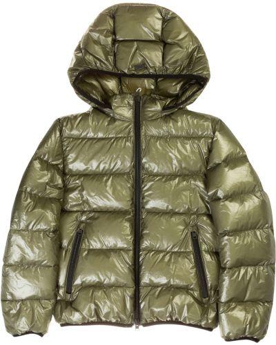 Zielony płaszcz z nylonu Herno
