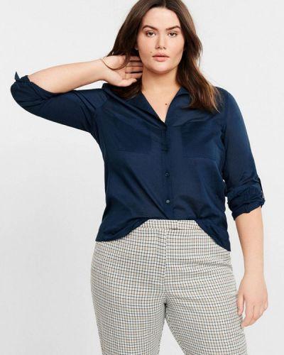 Рубашка с коротким рукавом синяя фиолетовый Violeta By Mango