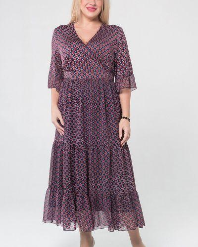 Шифоновое платье макси с запахом с поясом Luxury