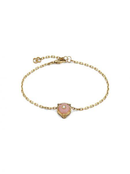 Bransoletka ze złota ze skałami z diamentem Gucci