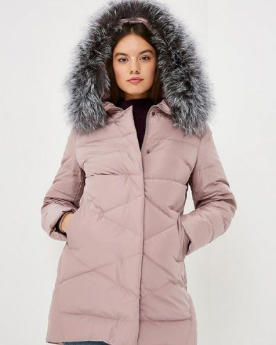Зимняя куртка осенняя розовая Lusio