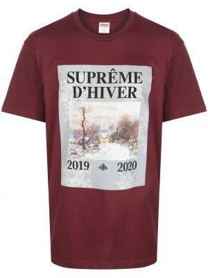 Koszula krótkie z krótkim rękawem z nadrukiem z logo Supreme