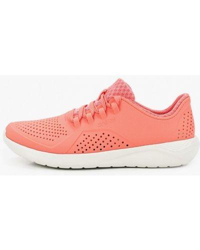 Текстильные кроссовки - красные Crocs