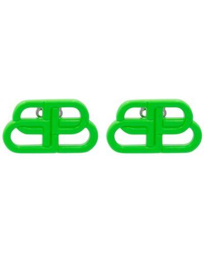 Зеленые серьги-гвоздики Balenciaga