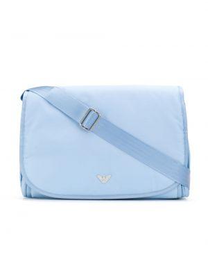 Niebieska torebka z nylonu Emporio Armani Kids