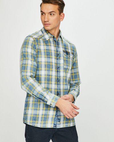 Рубашка с длинным рукавом в клетку хлопковая Guess Jeans