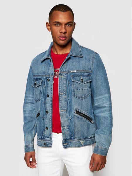 Kurtka jeansowa - niebieska Guess