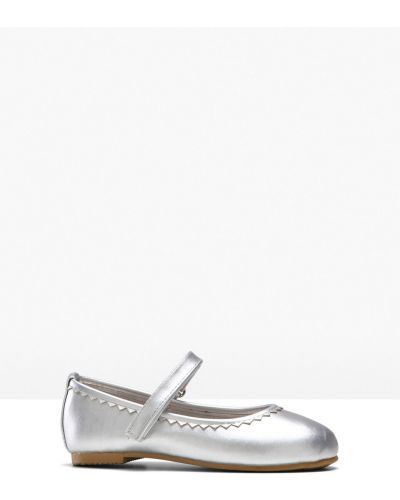 Серебряные балетки Bonprix