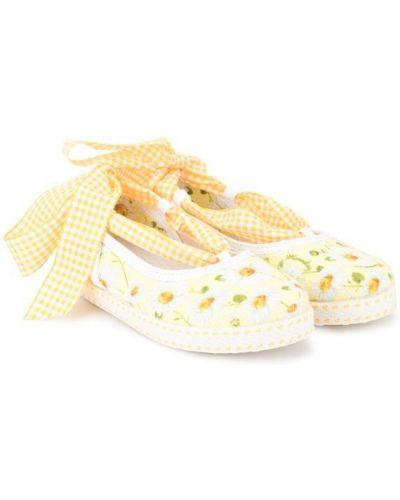 Туфли плоский с цветочным принтом Monnalisa