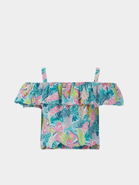 Блузка с короткими рукавами на резинке из вискозы Defacto