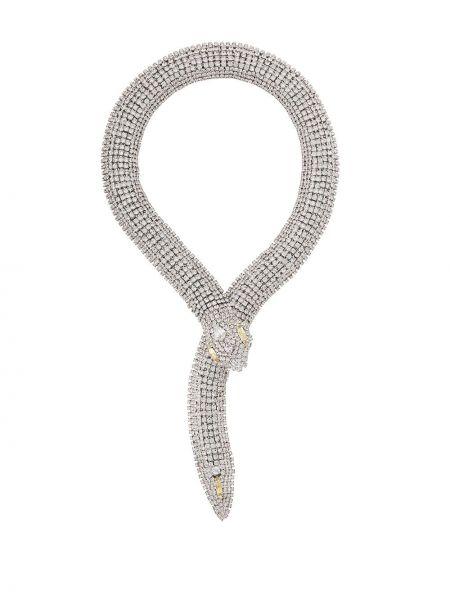 Żółty naszyjnik srebrny Alessandra Rich