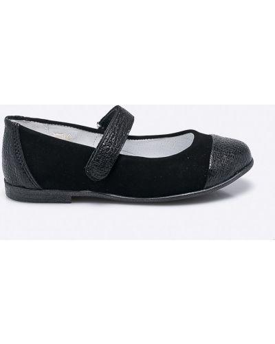 Черные балетки кожаные Kornecki