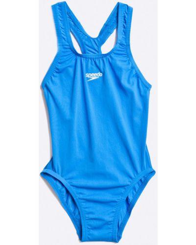 Слитный купальник эластичный синий Speedo